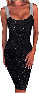 haoricu Women`s Sexy V Neck Backless Mini Dress Sleeveless Spaghetti Straps Cocktail Party Dresses
