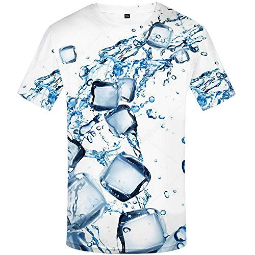 Marca Graffiti T-Shirt Hombres Psychedelic Anime Ropa Rubik S Cube Camisetas 3D Square Shirt Print Art Camisetas Divertidas-XL