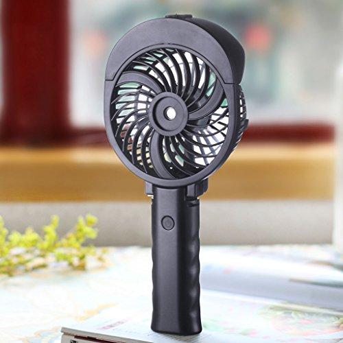 Ventiladores de Sobremesa Mini ventilador recargable del USB, fan portable portátil de la mano del estudiante del agua portátil de la refrigeración por aspersión, ventilador familiar del viaje al aire