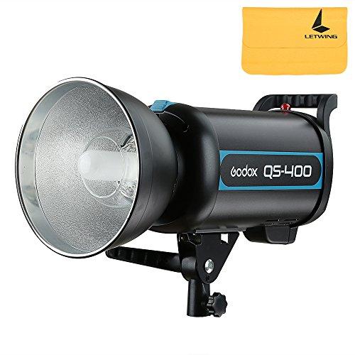 Godox QS-400 400W GN65 Alta Velocità Studio Strobe Flash Leggero Illuminazione Lampada Head 220v Riciclato Tempo di 0.3-1.2s + Letwing Digital Gift Kit (QS-400)