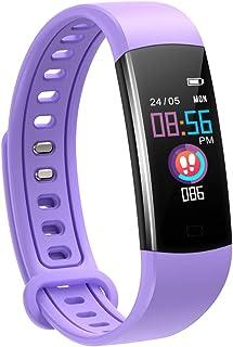 moreFit Barn fitnessmätare med pulsmätare, vattentät aktivitetsmätare klocka med 4 sportlägen, sömnmonitor fitnessklocka m...
