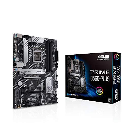 ASUS Prime B560-PLUS LGA1200 (Intel 11th/10th Gen) ATX Motherboard (PCIe 4.0, 2xM.2 Slots, 8 Power Stages, 1 Gb LAN, DisplayPort, HDMI, USB 3.2 Gen 1 Type-C, USB 3.2 Gen 2, Thunderbolt 4 Support)