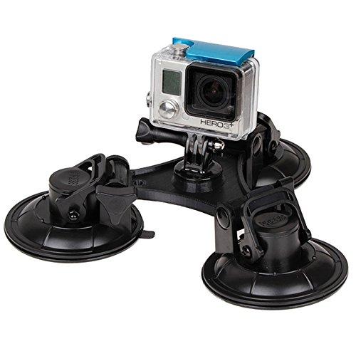 HUANGYUNCHAO camera-accessoires driehoekige zuignap met hexagon schroevendraaier voor GoPro HERO6 / 5/5 sessie / 4/3 / 2/1, Xiaoyi en andere actiecamera's (XM70-B)
