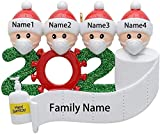 2020 Personalized Customized Christmas Ornament Kits Creative Gift for Family, Christmas Party Decoration 1-7 Family Members Hanging Ornament for Tree Home Decor Xmas Gifts Home Decor Doll Gifts