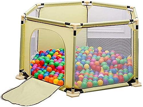 YOUXD Kinderspielzaun Babyspielzaun atmungsaktives wasserdichtes Netz tragen Sicherheitszaun 150x68cm (Farbe   Gelb)