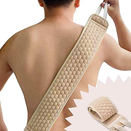 Ceinture exfoliante, mousse de lâche, sangle de massage dorsal, ceinture exfoliante, ceinture exfoliante pour le dos, exfoliant pour le dos, éponge en lin, kit exfoliant pour le corps