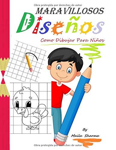 ♥Maravillosos Diseños♥ (como dibujar para niños): Maravillosos dibujos fáciles de copiar a lápiz y luego colorear ... (Libros para Niños)