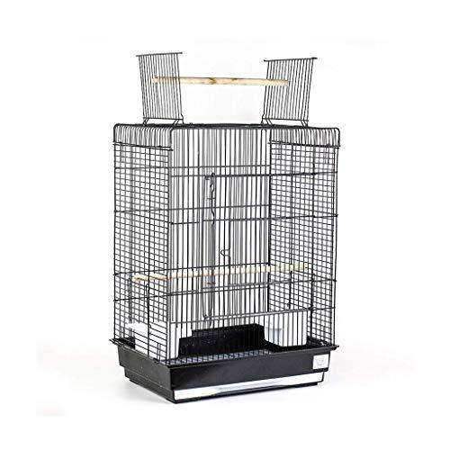 DFBGL Jaula para pájaros de Metal con Parte Superior Abierta, Grande, para periquitos, agapornis, pinzones, cacatúas, Canarios, Loros, periquitos, Jaula de Viaje, Jaula de pájaros, Jaula