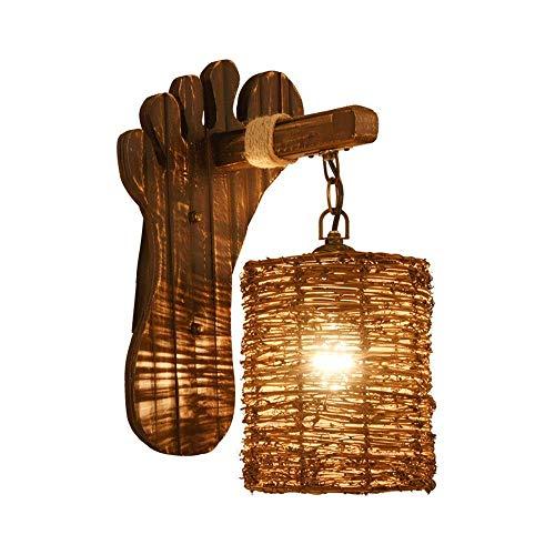HDDD wandlamp van antiek bamboe, Chinese lantaarns, retro persoonlijkheid, bedlampje B & B Inn Creative Bar Light