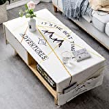 YCZZ Accueil Nordic Épaisse Nappe en Coton, Table Basse Salon Nappe Rectangulaire 70 x 160 cm (Double Rangement de Poche) Montagnes Nappe