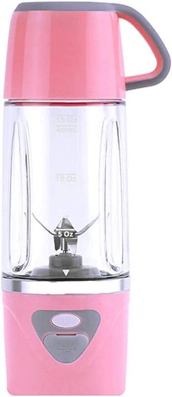 Batidoras de Vaso Individuales, 600ML Mini Licuadora Eléctrica, Recargable Juice Blender con USB, para Zumos de Fruta y Verdura, Ensalada, Sopa, ...
