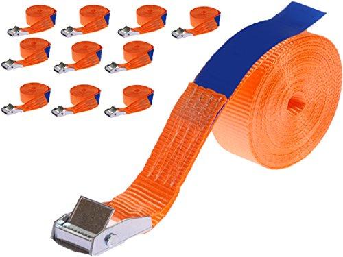 10 x 250 kg 6 m Correa amarre hebilla Correas con cierre de apriete rápido Cinchas de sujeción para portabicicletas