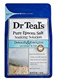 Dr Teal's Pure Epsom Salt Soaking Solution, Detoxify & Energize with...