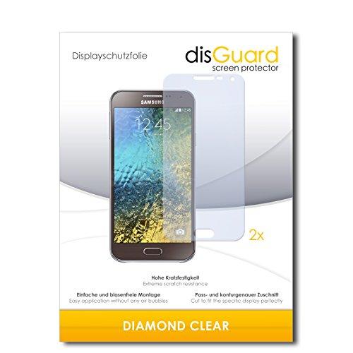 disGuard 2 x Bildschirmschutzfolie Samsung Galaxy E5 Schutzfolie Folie DiamondClear unsichtbar