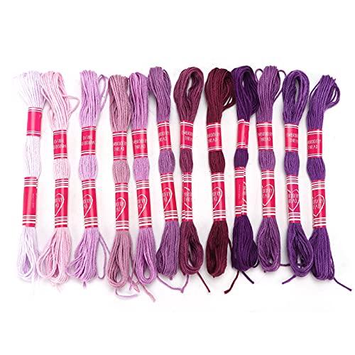 Hilo de bordar, hilo de bordar práctico de uso múltiple para manualidades Herramienta para manualidades(Púrpura)