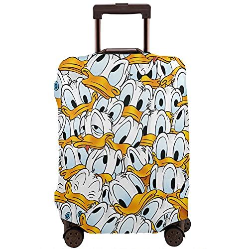 Donald Cartoon Duck - Maleta de viaje resistente a los arañazos, a prueba de polvo, elástico y flexible para equipaje de viaje, White (Blanco) - 364487649