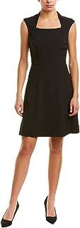 Tahari by ASL Women's Cap Sleeve Matte Jersey Dress wih Full Skirt