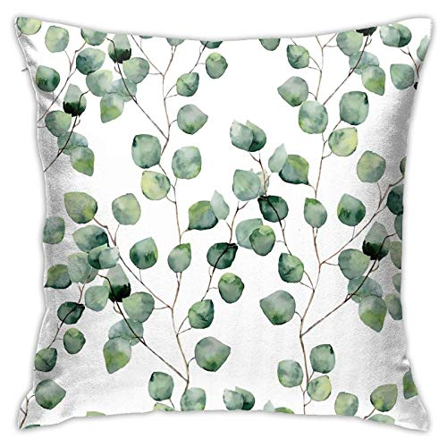 MZZhuBao Garden Plant White Flowers On Sunny Stock 18x18 Pillow Insert Decorative Sham Throw Pillow Inserts Square Cushion Stuffer for Bedroom, Living Room, Dining Room, Bay Window, Balcony, Car