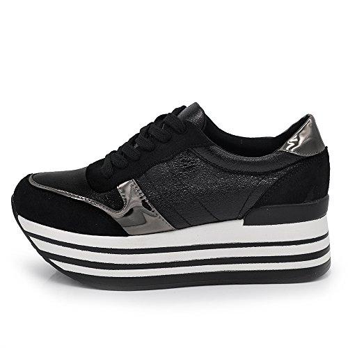 - Zonder merk/Generieke - If Fashion Sneakers schoenen voor dames van synthetisch leer voor Zeppa para Rialzo Righe F207