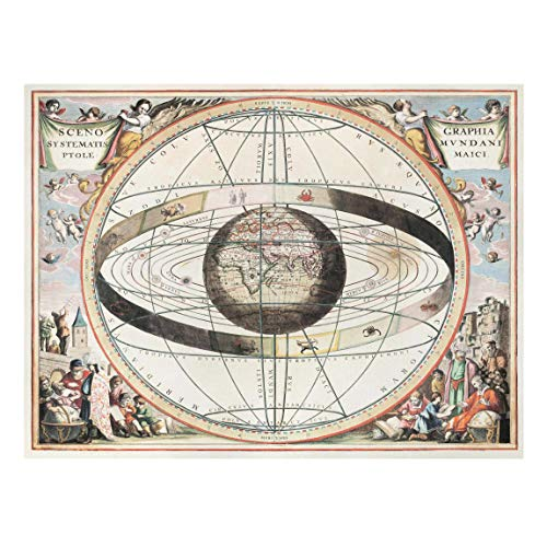Bilderwelten Cuadro en Lienzo - Vintage Antique Star Atlas - 120 x 160cm - Recycled Canvas