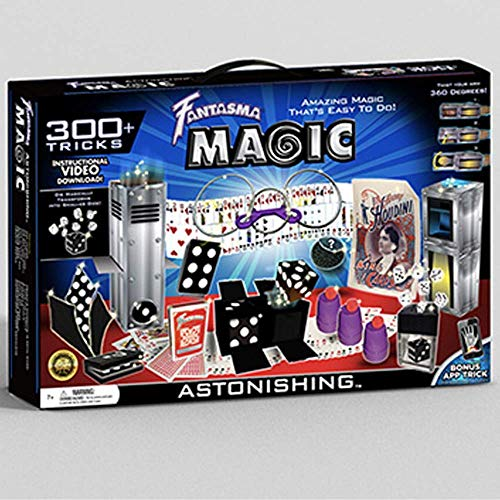 Fantasma Astonishing Magic Set with Instructional Video & Fully-Illustrated Manual - Learn 300 Fun Astonishing Magic Tricks - Adults & Children 7+