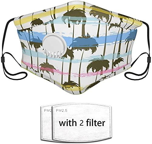 YRUI Palmera tropical reutilizando la máscara filtro de seguridad puede evitar que el polvo contamine la caspa de mascotas