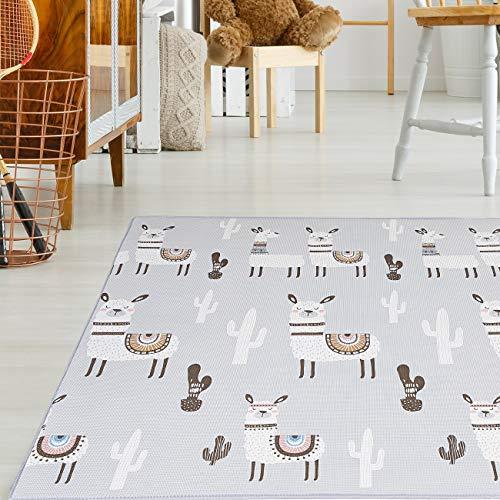 Baby Vivo Premium Wende-Spielteppich Alpaka | Kinderspielteppich Spielmatte Spieleteppich Krabbelmatte Babyteppich |...