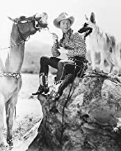 Roy Rogers With Trigger & Bullet The Wonder Dog 8x10 HD Aluminum Wall Art