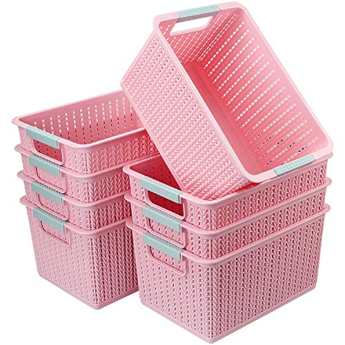 CBTONE Set of 8 Plastic Storage ...