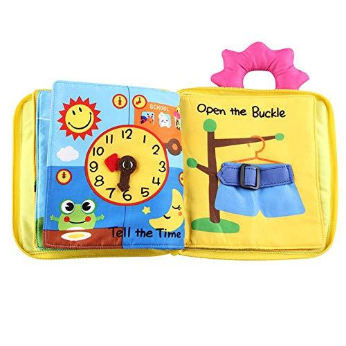 VODVO Desarrollo Educativo de la Inteligencia del bebé Juguetes cognitiva Libro Suave del bebé del paño de los niños Aprender Imagen cognize Libro