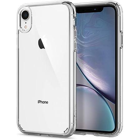 Spigen iPhone XR ケース 6.1インチ 対応 クリア 米軍MIL規格取得 耐衝撃 カメラ保護 衝撃吸収 Qi充電 ワイヤレス充電 ウルトラ・ハイブリッド 064CS24873 (クリスタル・クリア)