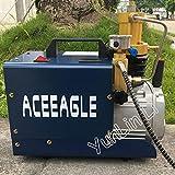 Yongenee De Alta presión Bomba de Aire eléctrica del compresor de Aire for el neumático Rifle de Aire for inflar con Aire del Equipo de Submarinismo del Rifle PCP Agua y separación de Aceite Bomba de