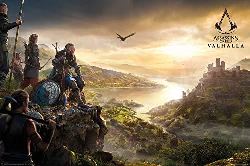 1art1 Assassin's Creed Poster - Valhalla Vista (91 x 61 cm)