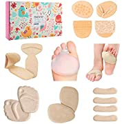 ROLISA High Heel Cushion Inserts, Heel Grips Liner, Ball of Foot and Metatarsal Pads, 18-Piece Foot Care Set