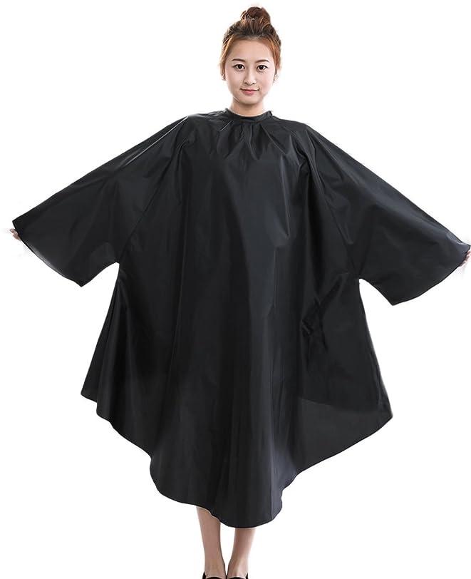 文言すごいたらい理容室ヘアカットケープガウン、プロ仕様理髪店スリーブ付きヘアカットケープ