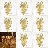 TeaSu Mini Golden Flower Filler for Floating Candles, 20Pcs...