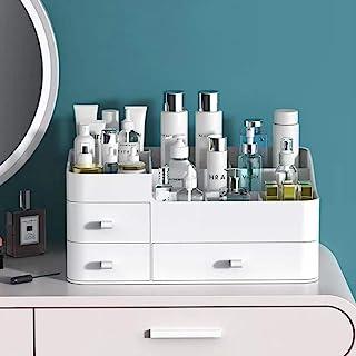 سازمان دهنده آرایش MIUOPUR برای غرور ، بزرگ میز برنامه ساز با کشو برای لوازم آرایشی ، رژ لب ، جواهرات ، مراقبت از ناخن ، مراقبت از پوست ، ایده آل برای میزهای اتاق خواب و حمام - سفید بزرگ