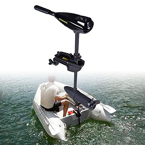 12V 58LBS Elektromotor Bootsmotor Trolling Motor Schlauchboot Bürstenmotor Teleskopart 3 Blätter für Boote bis 100kg