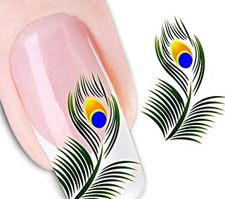 Best peacock nail decals Reviews