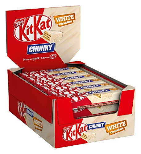 Nestle KitKat Chunky White Chocolate with white chocolate multi pack of 24 x 40 g