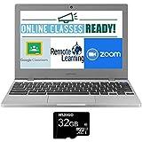 2020 Newest Samsung Chromebook 4 11.6 Inch Laptop, Intel Celeron N4000 up to 2.6 GHz, 4GB LPDDR4 RAM, 32GB eMMC, WiFi, Bluetooth, Webcam, Chrome OS + NexiGo 32GB MicroSD Card Bundle