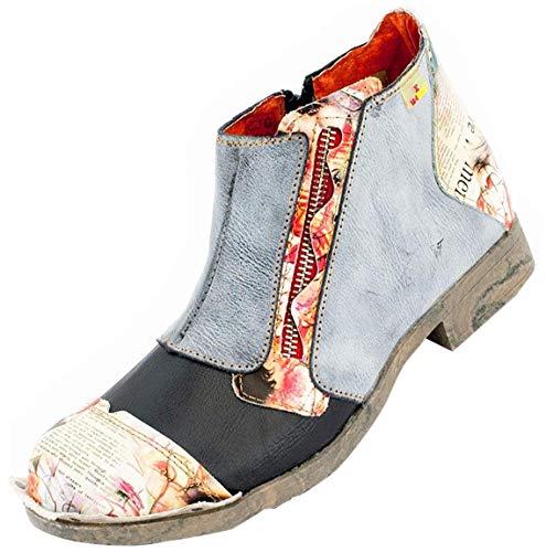 TMA Damen Knöchel-Schuhe 5335 Schwarz-Blau 39