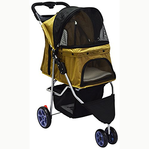INTBUYING Best pet Stroller cart for Dog cat with Wheels Small Large Pushchair