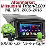 Tunez® Android Auto MP3 MP4 Bluetooth Audio Player für Triton L200 ML MN 4. Generation 2006 2007 2008 2009 2010 2011 2012 2013 2014 2015 GPS Doppel DIN Stereo Radioblende