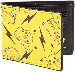 Pokemon All-over Pikachu Bi-fold Wallet, Male, Multi-colour Mw060821pok