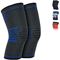 2-Pack MRO Knee Compression Support Sleeve Brace (various sizes/colors)