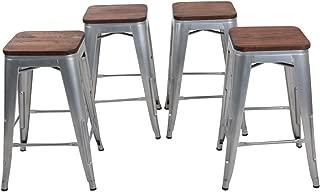 Best 24 metal bar stools backless Reviews