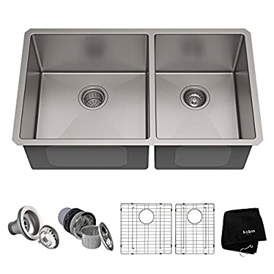 Kraus Standard PRO Double Bowl Stainless Steel Kitchen Sink