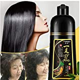 Instant Herbal Hair Colouring Shampoo, 3 In 1 Black Hair Shampoo, Instant Black Hair Dye Shampoo Darkening Shampoo Hair Growth Shampoo for Men Women, Regain colour & youth for your hair (Black)