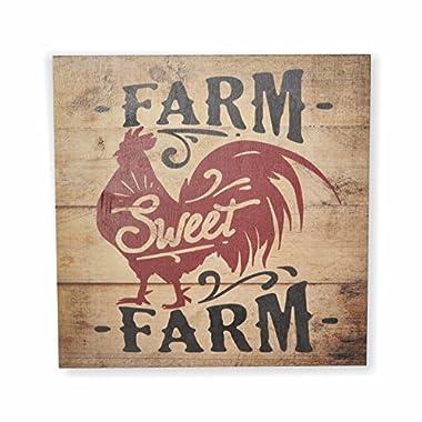 Farm Sweet Farm Rustic Wall Sign 12x12
